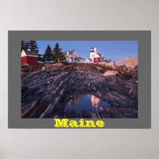 Phare de point de Pemaquid sur la côte du Maine Posters