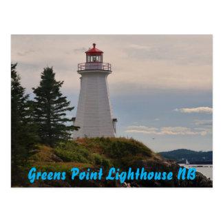 Phare de point de verts carte postale