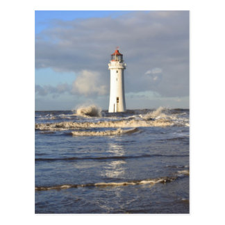 Phare de roche de perche, nouveau Brighton Carte Postale