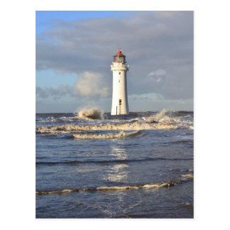 Phare de roche de perche, nouveau Brighton Cartes Postales