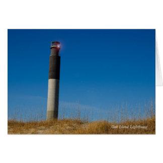 Phare d'île de chêne cartes de vœux