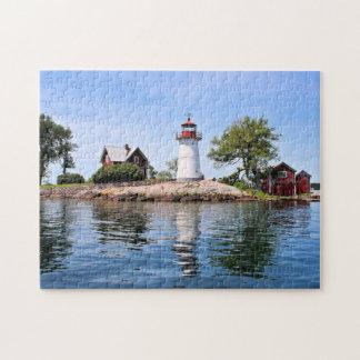 Phare d'île de croisement, puzzle de New York