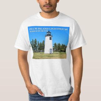 Phare d'île de prune, T-shirt du Massachusetts