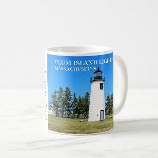 Phare d'île de prune, tasse du Massachusetts
