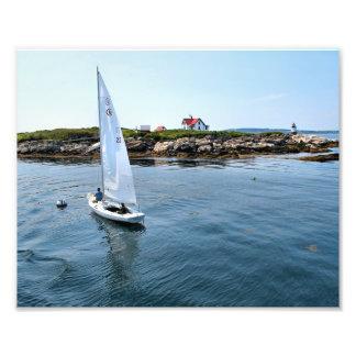 Phare d'île de RAM, copie de photo du Maine