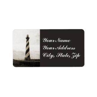 Phare du Cap Hatteras Étiquette D'adresse