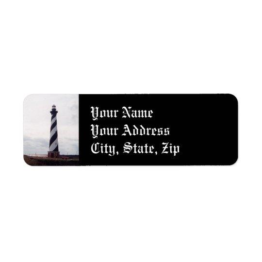 Phare du Cap Hatteras Étiquette D'adresse Retour
