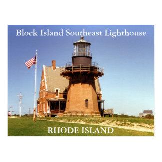 Phare du sud-est d'Île de Block, carte postale de
