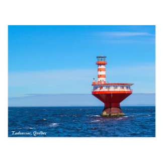 Phare en mer de Tadoussac, carte postale de Québec