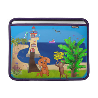 Phare heureux par Happy Juul Company Poches Macbook