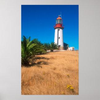 Phare, île de Robben, Cape Town Posters