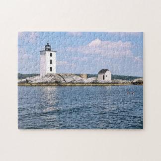 Phare néerlandais d'île, puzzle d'Île de Rhode