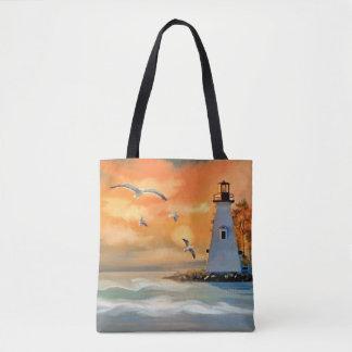 Phare par le sac fourre-tout à mer