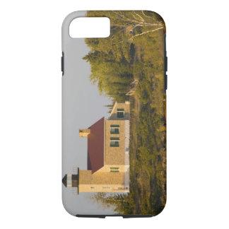 Phare sur le lac Supérieur près du port de cuivre Coque iPhone 7