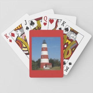 Phare sur une plate-forme des cartes de jeu cartes à jouer