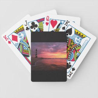 Phare sur une plate-forme des cartes de jeu jeu de poker
