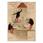 Pharmacie squelettique cartes de vœux