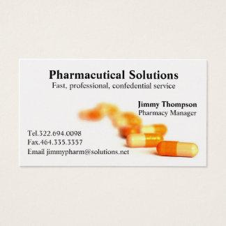 Pharmacien de cartes de visite de pharmacie