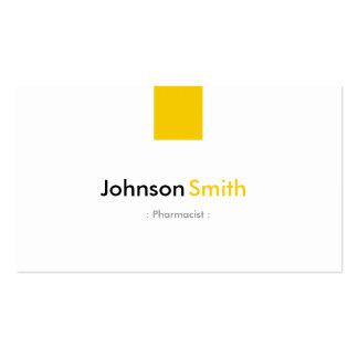 Pharmacien - jaune ambre simple carte de visite standard