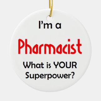 pharmacien ornement rond en céramique
