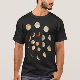 Phases de la spirale de lune t-shirt