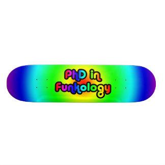 PhD en arc-en-ciel de trouille de plaisanterie Skateboard Old School 21,6 Cm