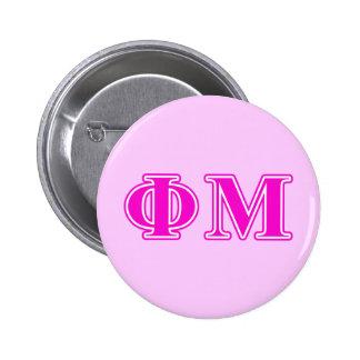 Phi lettres roses/pourpres de MU Badges