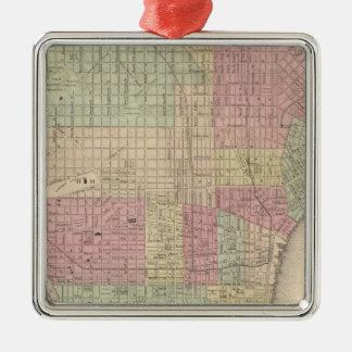 Philadelphie 2 ornement carré argenté