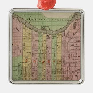 Philadelphie 6 ornement carré argenté