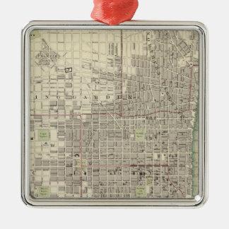 Philadelphie 8 ornement carré argenté