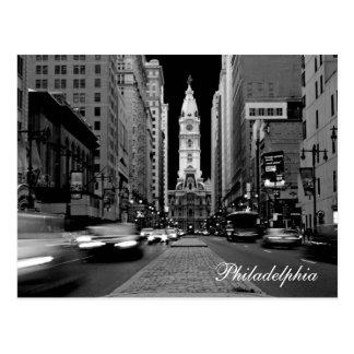 Philadelphie à la carte postale de nuit