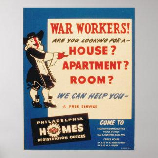 Philadelphie peut aider la guerre des travailleurs affiche