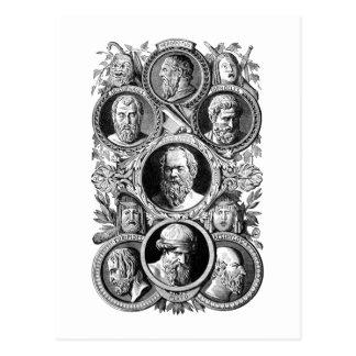 Philosophes grecs cartes postales