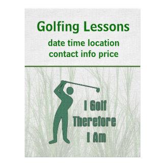Philosophie jouante au golf prospectus 21,6 cm x 24,94 cm