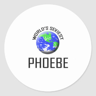 Phoebe le plus sexy du monde adhésif rond