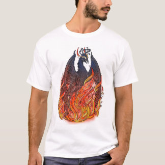 Phoenix en flammes t-shirt