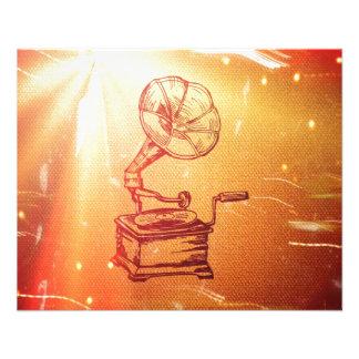 Phonographe vintage antique. Rétro vieux Prospectus Personnalisés