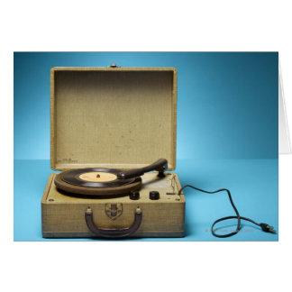 Phonographe vintage carte de vœux