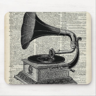 Phonographe vintage tapis de souris