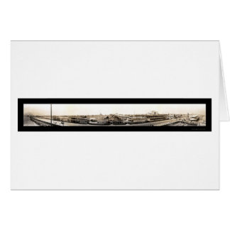 Photo 1909 de bord de mer de Galveston Cartes
