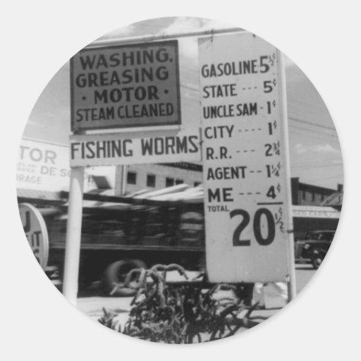 Photo 1938 d'analyse des prix de station service autocollants