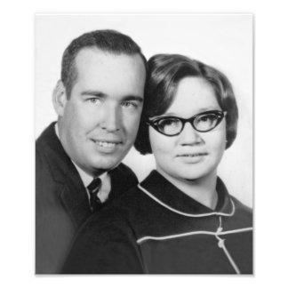 Photo 1967 de fiançailles d'herbe et de Sue