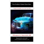 Photo automatique vintage reconstituée par bleu lu modèles de cartes de visite
