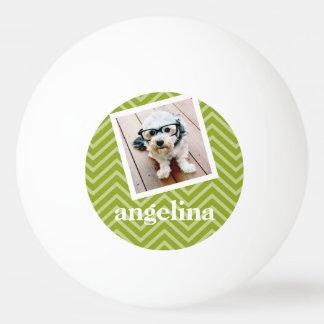 Photo avec le motif de Chevron et le nom de Balle De Ping Pong