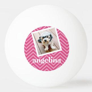 Photo avec le nom de coutume de motif de Chevron Balle De Ping Pong