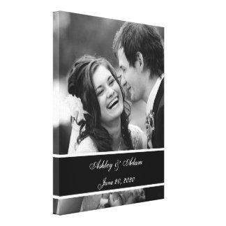 Photo blanche noire de mariage personnalisée toiles