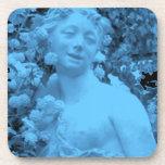 Photo bleue d'abrégé sur statue sous-bock