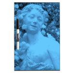 Photo bleue d'abrégé sur statue tableaux blancs  effaçables à sec