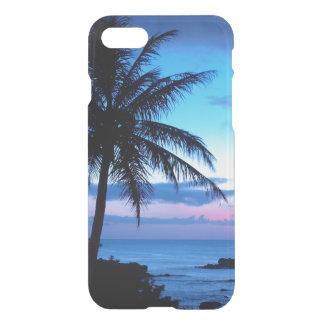 Photo bleue de coucher du soleil d'île de plage de coque iPhone 7