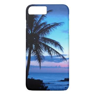 Photo bleue de coucher du soleil d'île de plage de coque iPhone 7 plus